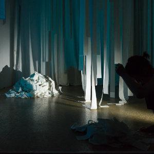 Schnee – eine performative Installation, Atelier 205 in Köln